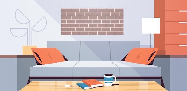 Modernes wohnungsdesign leer keine menschen wohnzimmer innen flach flach horizontal