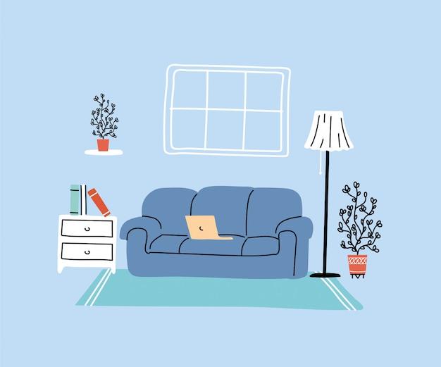 Modernes wohnzimmer mit sofa