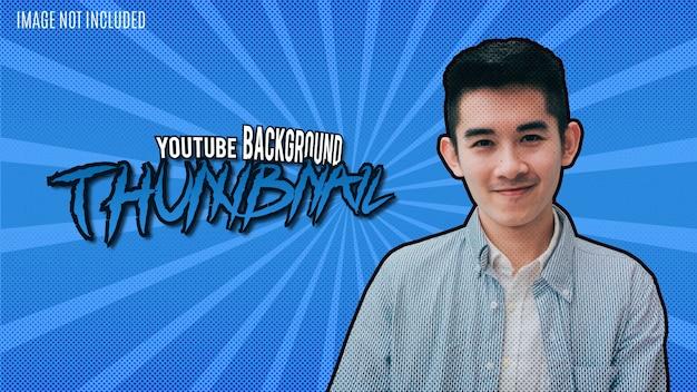Modernes youtube-vorschaubilddesign mit graffiti-text