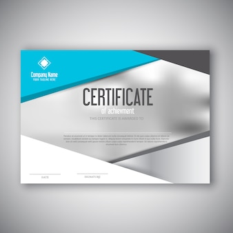Modernes zertifikat design
