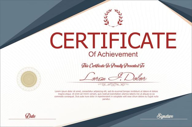Modernes zertifikat