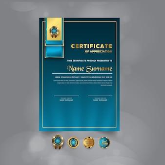 Modernes zertifikatsvorlagendesignn