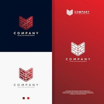 Modernes ziegelstein-logodesign