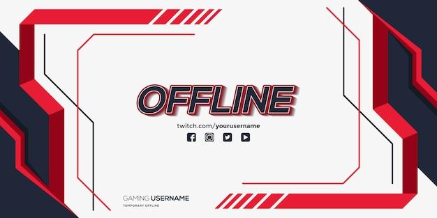 Modernes zuckendes offline-banner mit abstrakten formen