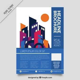 Modernist immobilien broschüre