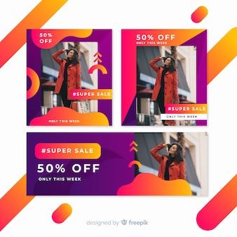Modeverkauf banner-kollektion