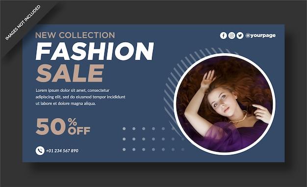 Modeverkauf banner vorlage