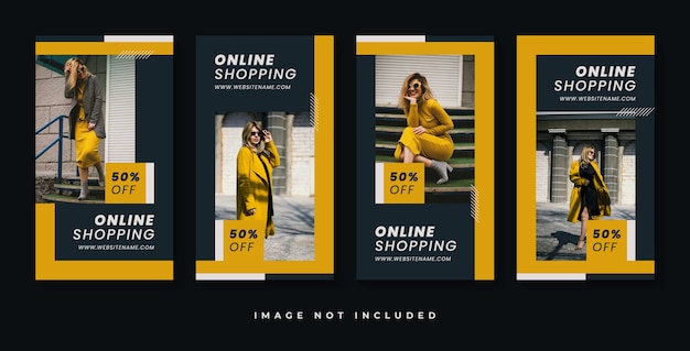 Modeverkauf instagram geschichten vorlage