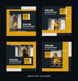 Modeverkauf instagram post bundle vorlage