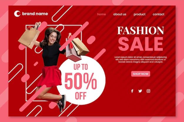 Modeverkauf - landing page