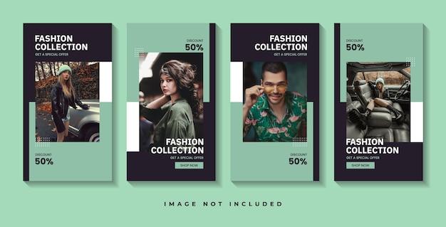 Modeverkauf social media geschichten vorlage