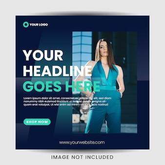 Modeverkauf social media post template design