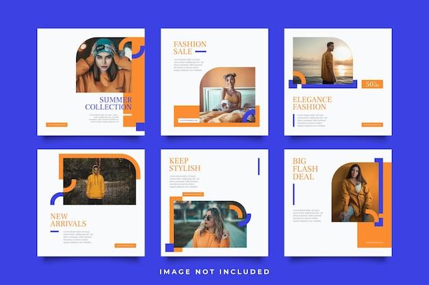 Modeverkauf social media post templates sammlung