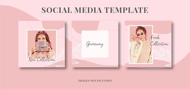 Modeverkauf social media post vorlagen