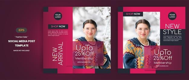 Modeverkauf social media post-vorlagen
