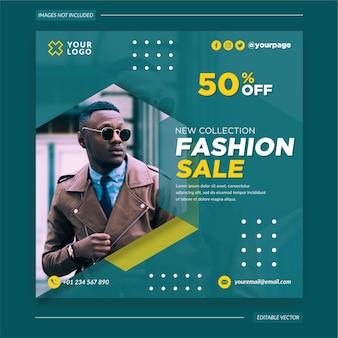 Modeverkauf social media vorlage