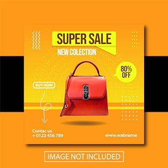 Modeverkaufsbanner für social-media-beiträge