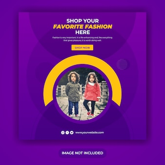 Modeverkaufspost-banner oder quadratische flyer-vorlage
