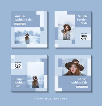 Modische minimalistische social-media-post-template-sammlung
