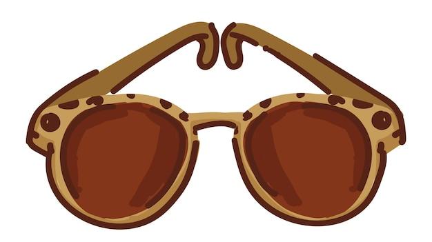 Modische sonnenbrille mit kunststoffrahmenvektor