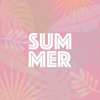 Modische tropische blätter des sommers. sommerhintergrund für schablonendesign. vektorillustration.