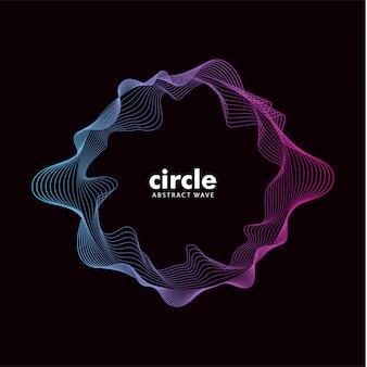 Modischer abstrakter cirlce-wellen-soundeffekt