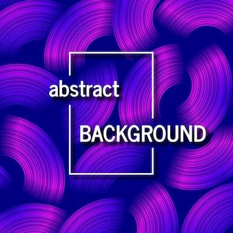 Modischer geometrischer blauer hintergrund mit abstrakten kreisformen. kartendesign. futuristisches dynamisches musterdesign. vektor-illustration