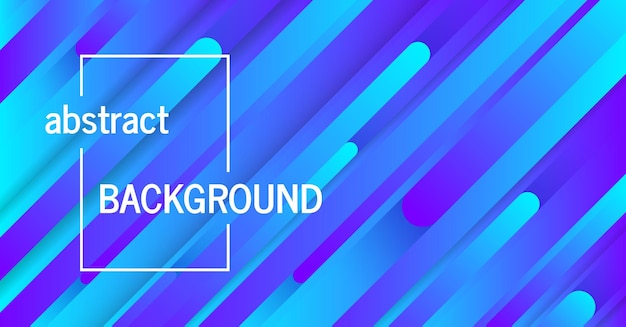 Modischer geometrischer blauer hintergrund mit abstrakten linien. banner-design. futuristisches dynamisches muster. vektor-illustration
