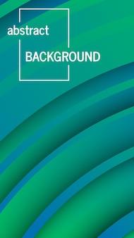 Modischer geometrischer grüner hintergrund mit abstrakten kreisformen. geschichten-banner-design. futuristisches dynamisches musterdesign. vektor-illustration