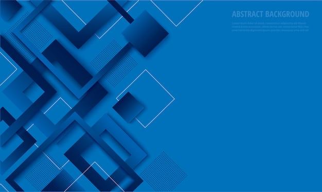 Modischer hintergrund des modernen blauen quadratischen gradienten