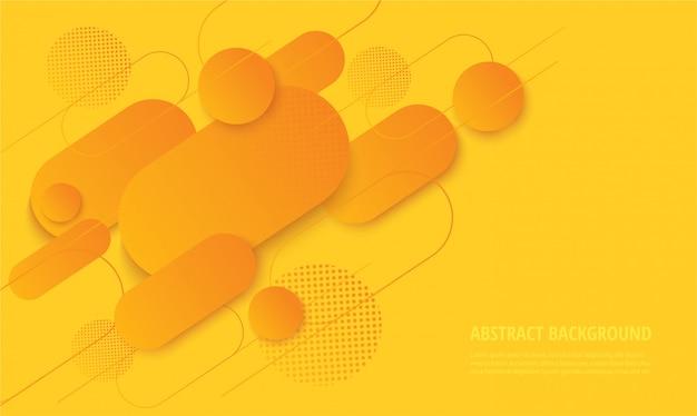 Modischer hintergrund des modernen gelben gradienten