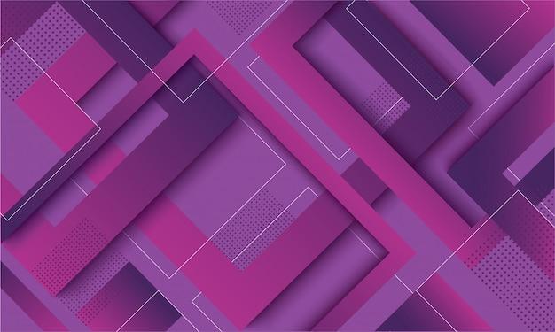 Modischer hintergrund des modernen lila quadratischen gradienten