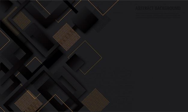 Modischer hintergrund des modernen schwarzen quadratischen gradienten