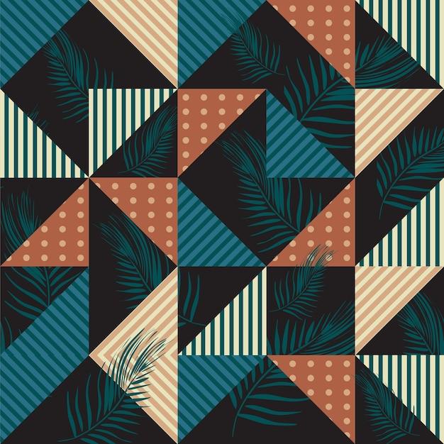 Modischer nahtloser mustervektor mit geometrischem dreieck
