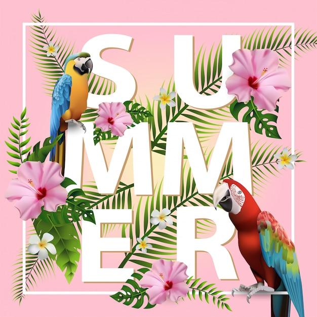 Modischer sommer-tropischer hintergrund