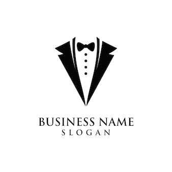 Modisches formsymbol des tuxedo-logos grafisches
