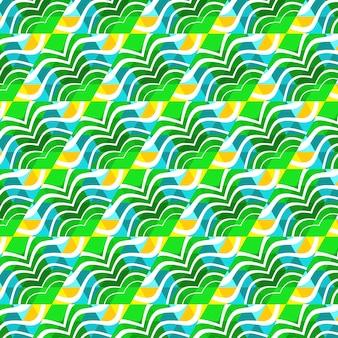 Modisches nahtloses muster des strandes, illustrierter dreieckvektor tropisch.