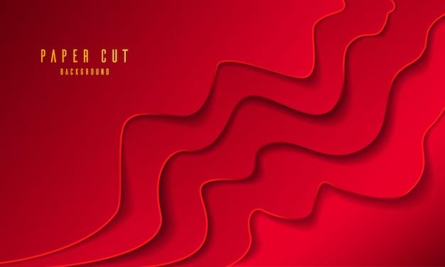 Modisches papier geschnitten mit rotem hintergrund