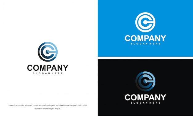 Modren c brief logo