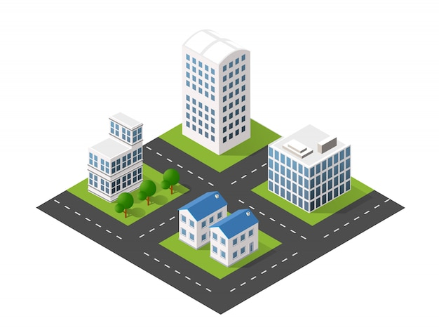 Modulblockstadt stadtstadtbild