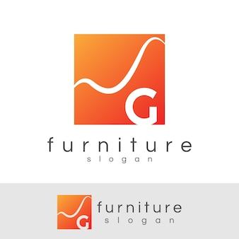 Möbel-anfangsbuchstabe g logo-design