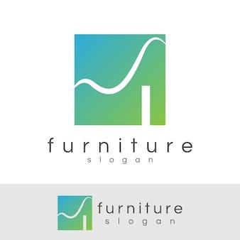 Möbel-anfangsbuchstabe i logo-design