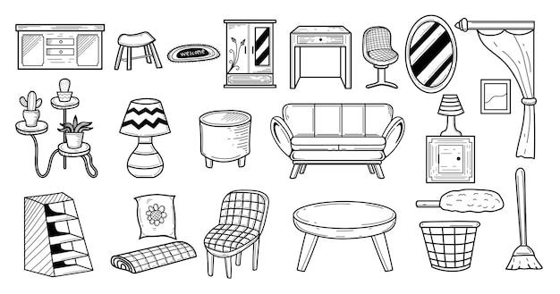 Möbel-doodle-set