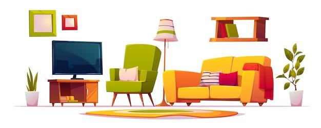 Möbel für den innenraum des wohnzimmers