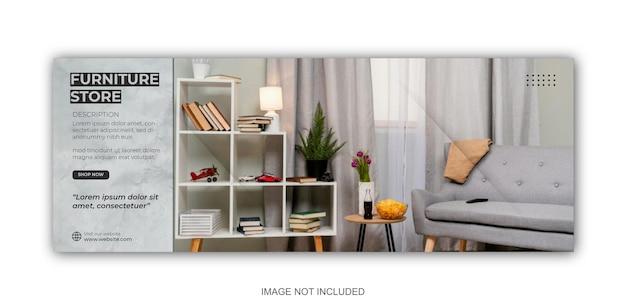 Möbel instagram social media post-vorlage