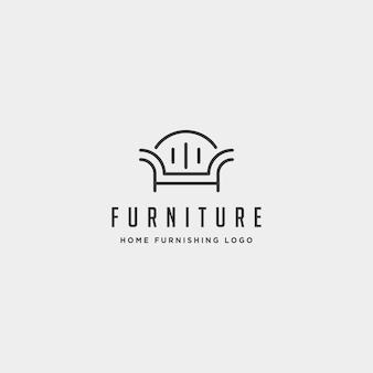 Möbel-logo-design-vektor-symbol abbildung symbol element isoliert