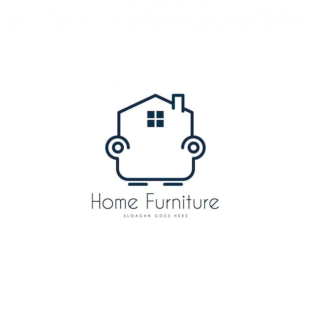 Möbel-logo. logo vorlage