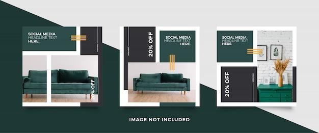 Möbel social media beitragsvorlage