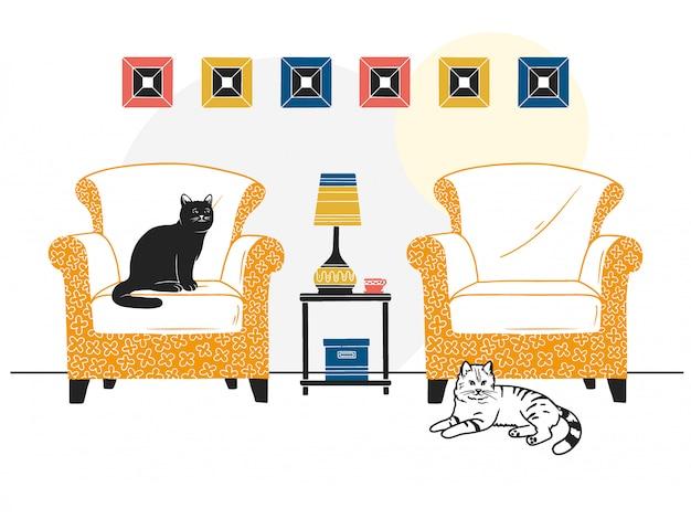 Möbel und verschiedene einrichtungsgegenstände