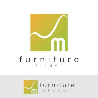 Möbelanfang buchstabe m logo design